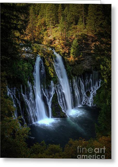 Greeting Card featuring the photograph Burney Falls by Kelly Wade