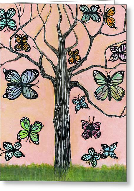 Butterflies Are Free Greeting Card by Blenda Studio