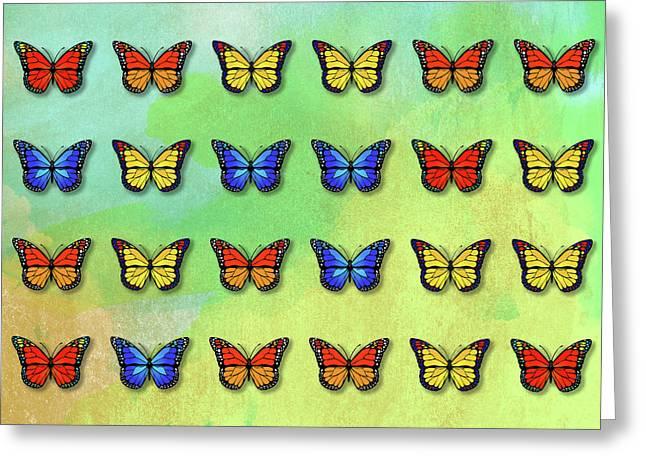 Butterflies Pattern Greeting Card