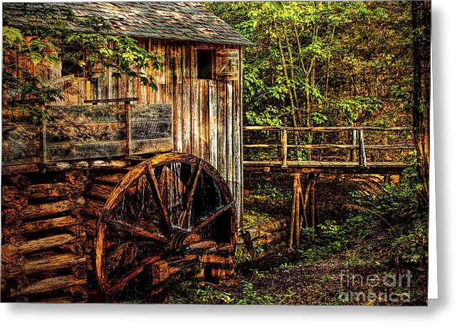 Cades Cove Mill Greeting Card