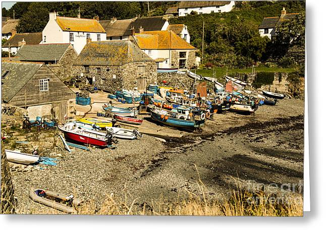 Greeting Card featuring the photograph Cadgwith Cove by Brian Roscorla