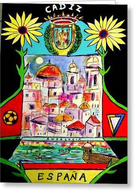 Cadiz Spain Greeting Card by Ted Hebbler