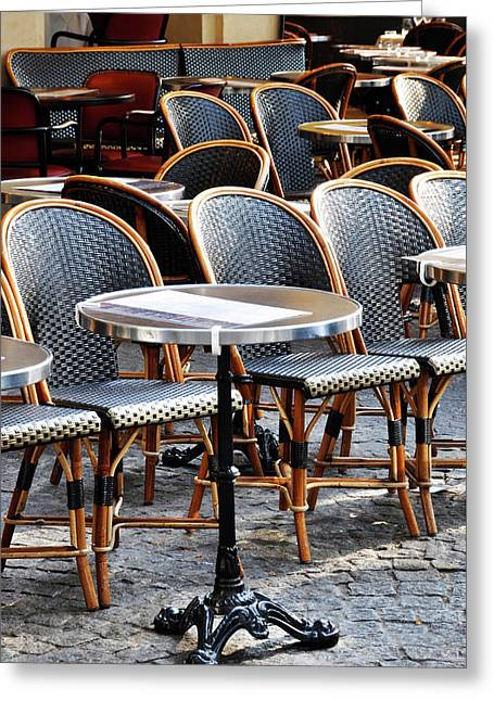 Cafe Terrace In Paris Greeting Card