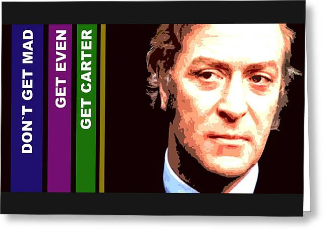 Caine As Carter Greeting Card by Martin James