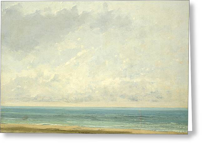 Calm Sea Greeting Card by Gustave Courbet