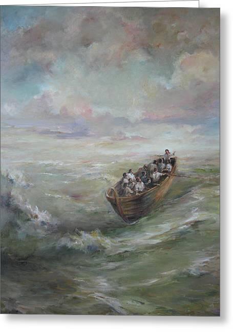 Calming The Storm Greeting Card by Tigran Ghulyan