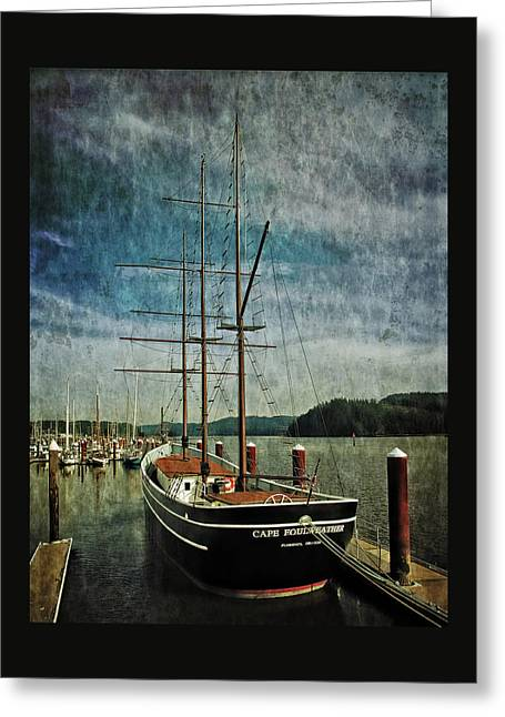 Greeting Card featuring the photograph Cape Foulweather Tall Ship by Thom Zehrfeld