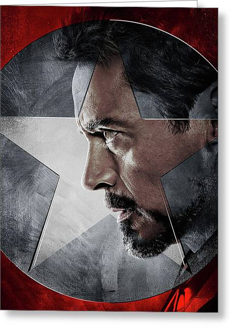 Captain America Civil War 2016 Greeting Card by Unknown