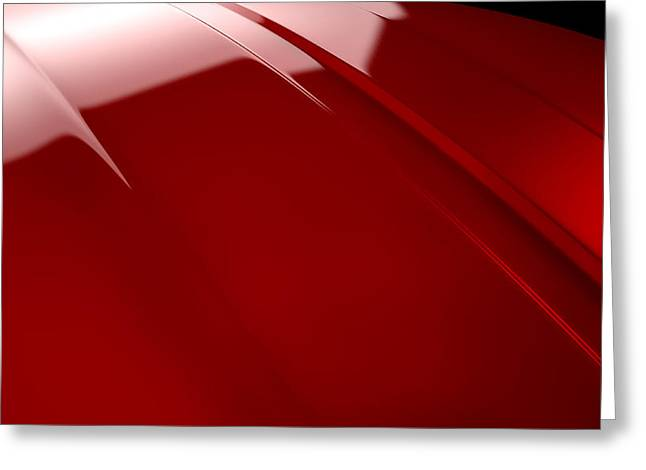 Car Contour Cherry Red Greeting Card by Allan Swart