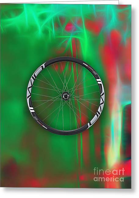 Carbon Fiber Bicycle Wheel Collection Greeting Card
