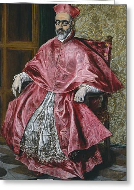 Cardinal Fernando Nino De Guevara Greeting Card by El Greco