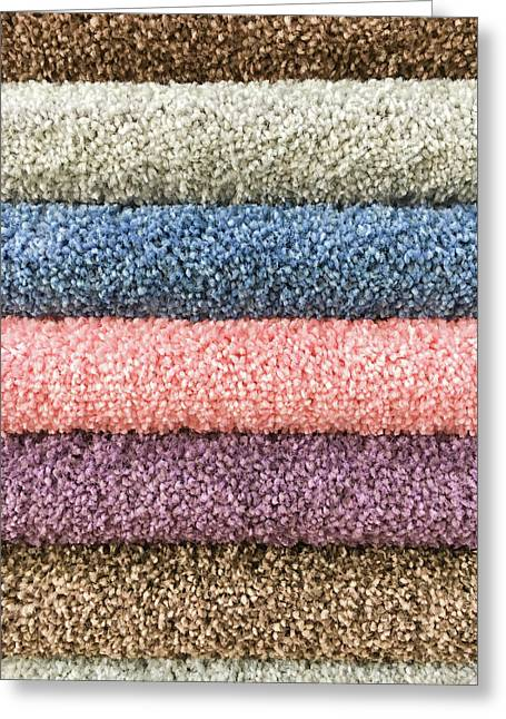Carpet Colours Greeting Card by Tom Gowanlock