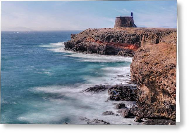 Castillo De Las Coloradas - Lanzarote Greeting Card