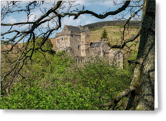Castle Campbell In Central Scotland Greeting Card by Jeremy Lavender Photography