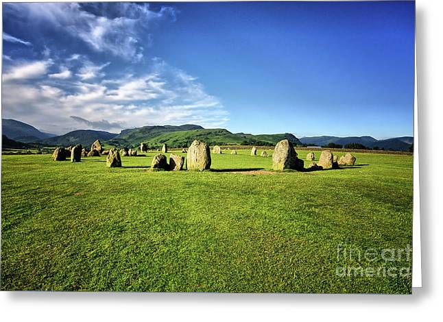 Castlerigg Stone Circle Greeting Card by Nichola Denny