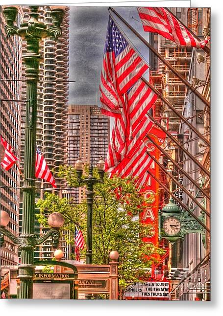 Celebrating Independence Greeting Card by David Bearden