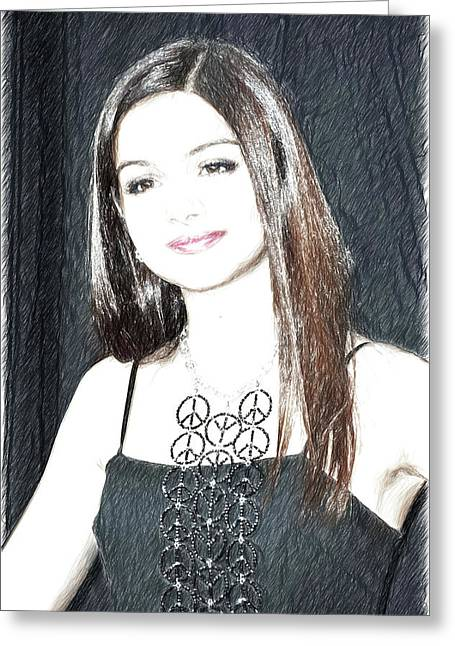 Celebrity Ariel Winter Greeting Card
