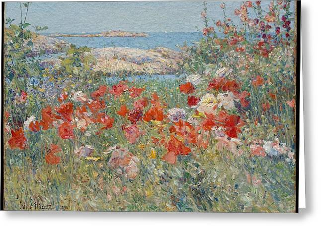 Celia Thaxter's Garden Greeting Card by  Childe Hassam