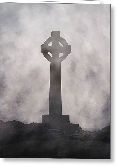 Celtic Cross Greeting Card by Joana Kruse