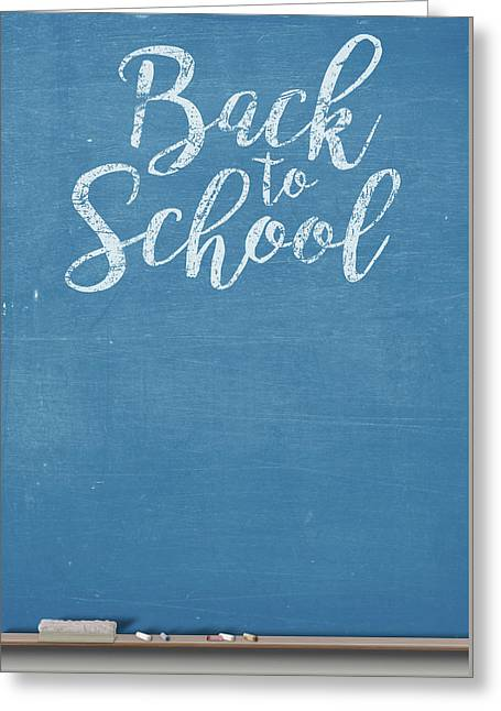 Chalk Board Split Greeting Card by Allan Swart