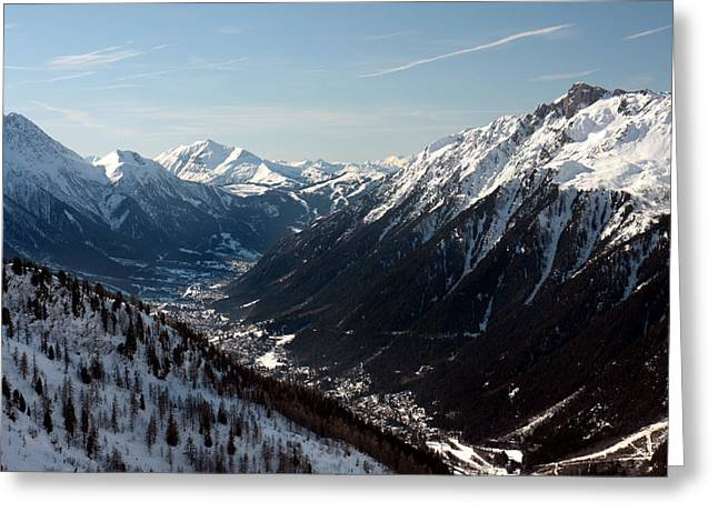Chamonix Resort In The French Alps Greeting Card by Pierre Leclerc Photography