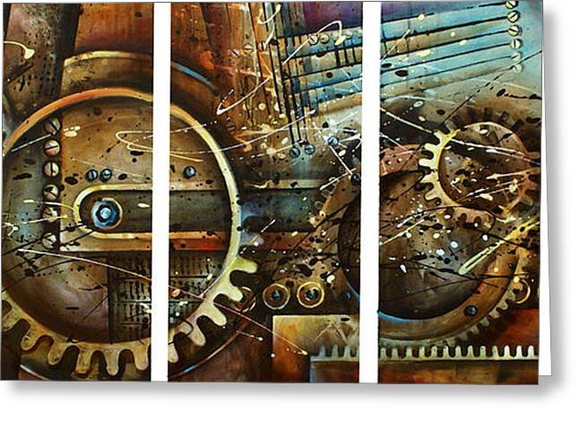 Gear Paintings Greeting Cards - Chaos Greeting Card by Michael Lang