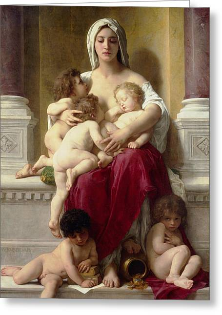 Charity  Greeting Card by William-Adolphe Bouguereau