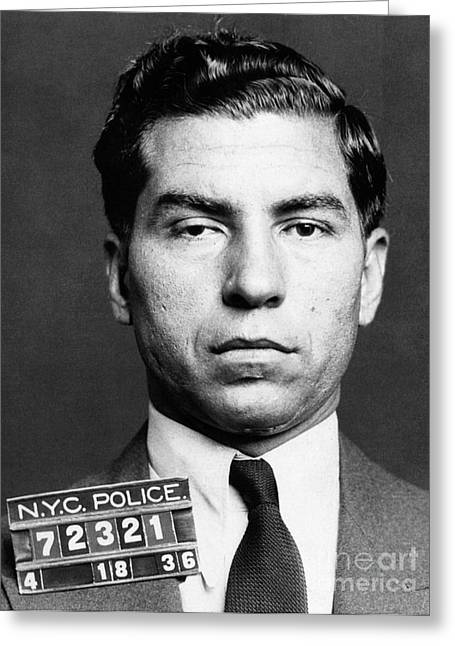 Charles Lucky Luciano Greeting Card by Granger
