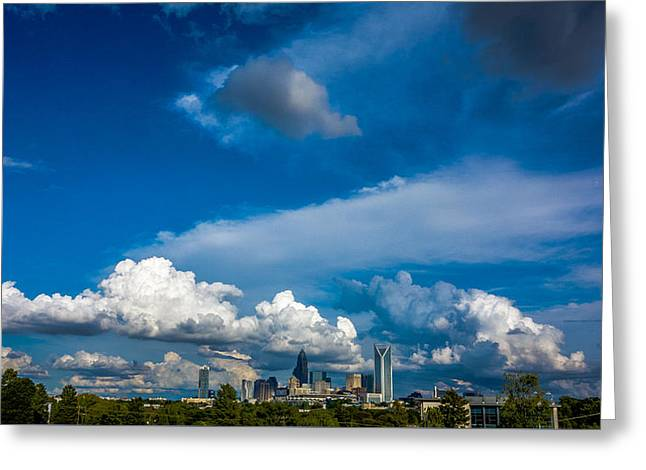 Charlotte North Carolina City Skyline Greeting Card