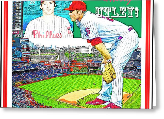 Chase Utley Poster Utterly Utley Greeting Card
