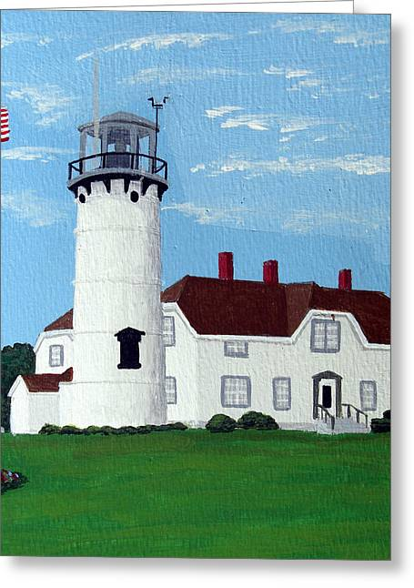 Chatham Lighthouse Greeting Card by Frederic Kohli