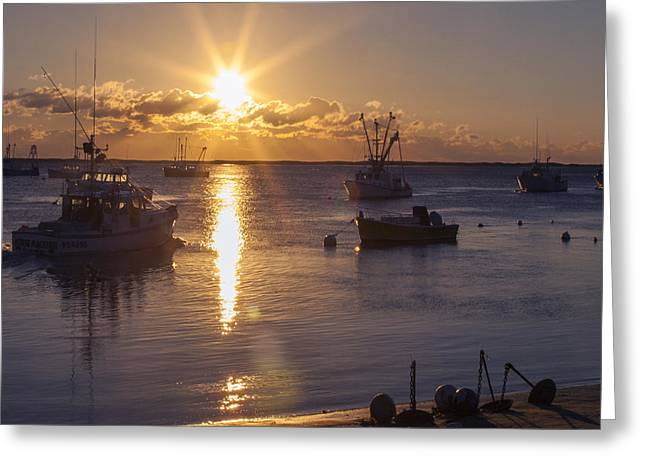 Chatham Sunrise Greeting Card by Charles Harden