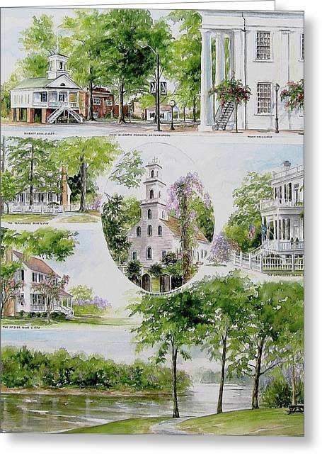 Cheraw Collage Greeting Card