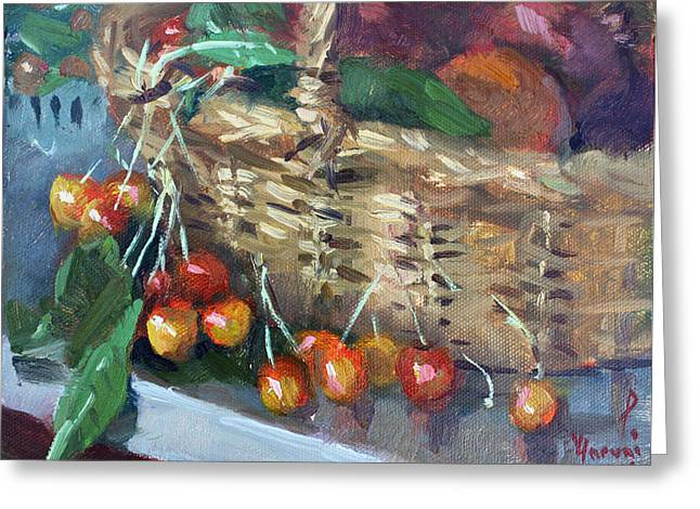 Cherries Greeting Card by Ylli Haruni