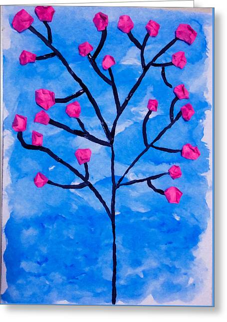 Cherry Blossom Tree 2 Greeting Card by Lanjee Chee