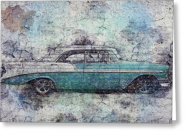 Greeting Card featuring the photograph Chevy Bel Air by Joel Witmeyer