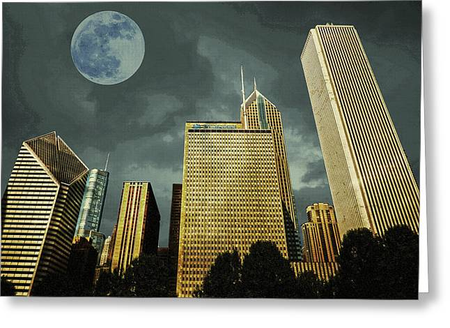 Greeting Card featuring the photograph Chicago by Artistic Panda