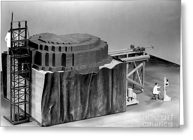 Chicago Pile-1, Scale Model Greeting Card by Science Source