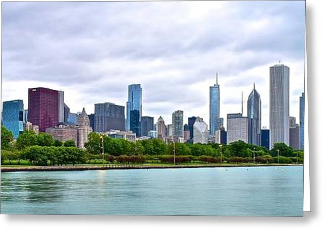 Chicago Stretches Out Greeting Card by Frozen in Time Fine Art Photography