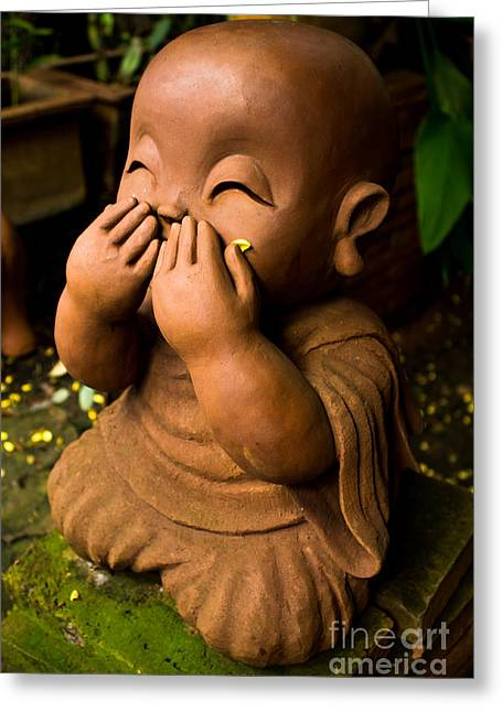 Children Monk Greeting Card