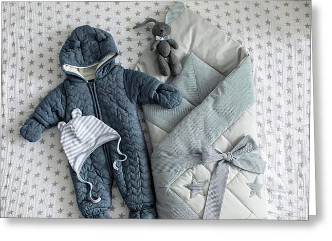 Children's Clothing To The Statement From The Family Of The House Envelope Greeting Card by Elena Saulich