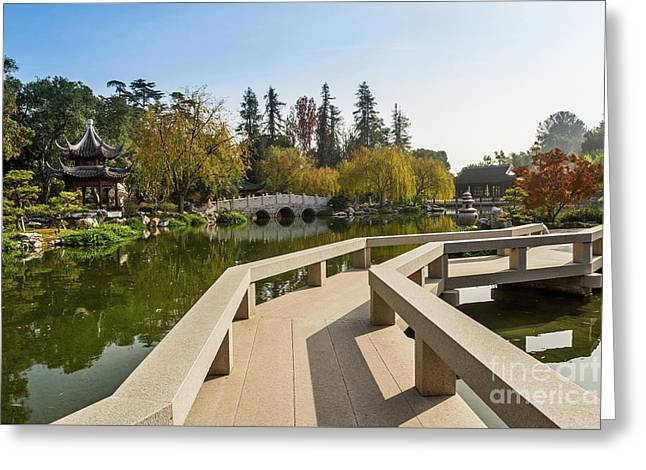 Chinese Garden At The Huntington Library. Greeting Card by Jamie Pham