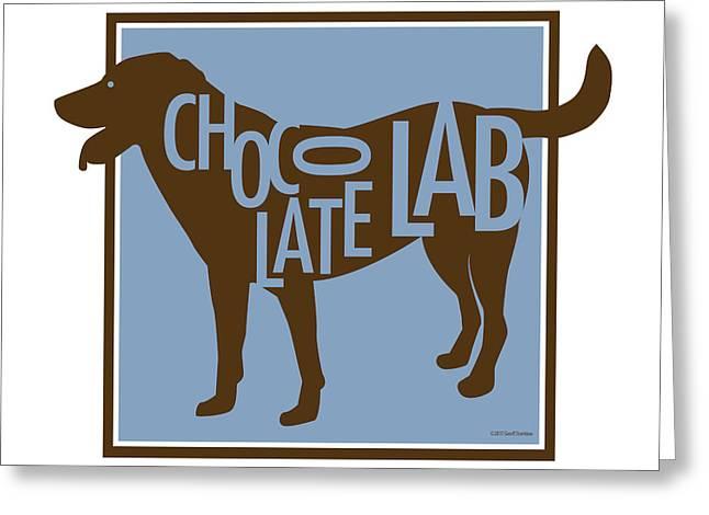 Labrador Retriever Digital Art Greeting Cards - Chocolate Lab Greeting Card by Geoff Strehlow