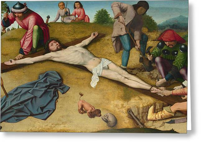 Christ Nailed To The Cross Greeting Card by Gerard David