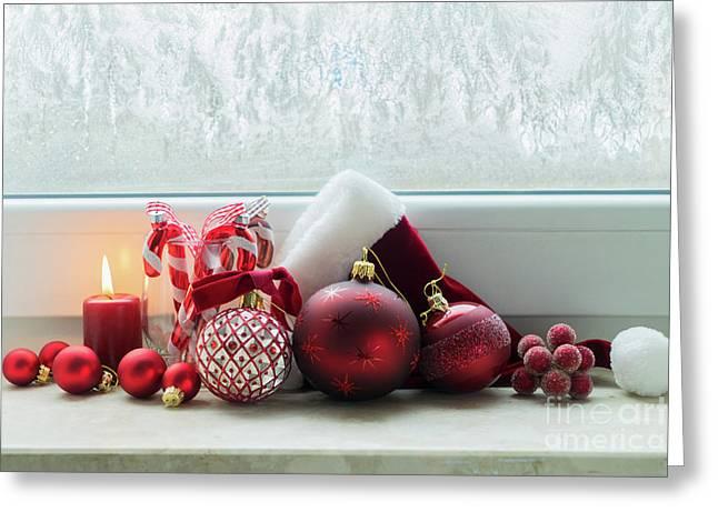 Christmas Windowsill Greeting Card