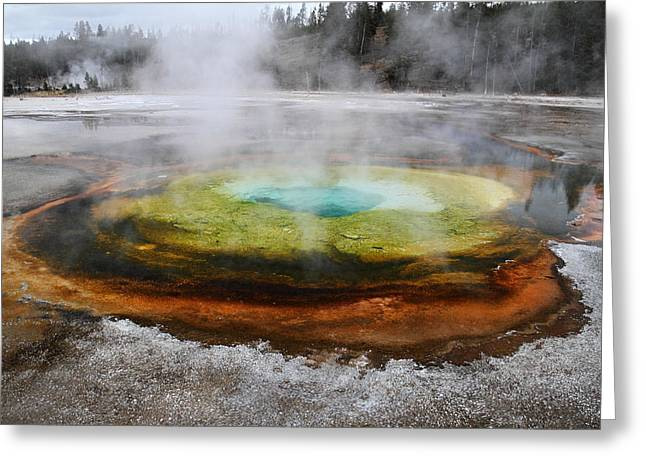 Chromatic Pool Yellowstone Greeting Card by Pierre Leclerc Photography
