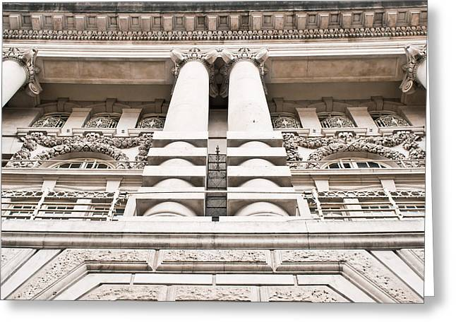 Classic Architecture Greeting Card by Tom Gowanlock