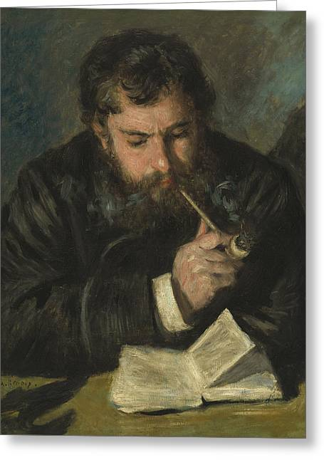 Claude Monet Greeting Card by Pierre Auguste Renoir