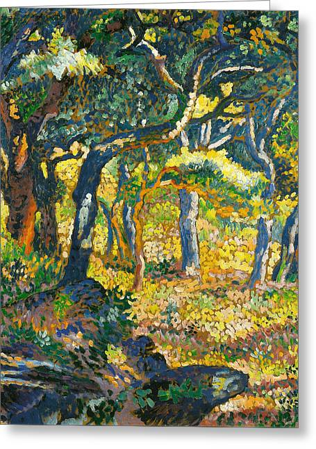 Clearing In Provence  Greeting Card by Henri-Edmond Cross