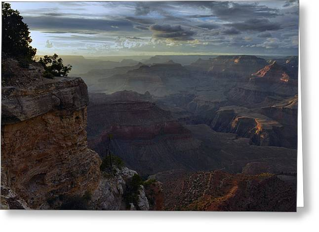 Greeting Card featuring the photograph Clearing Storm At Sunset by Stephen  Vecchiotti